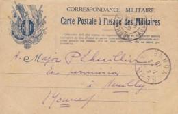 Correspondance Militaire / Carte Postale à L'usage Des Militaires. - Guerre De 1914-18