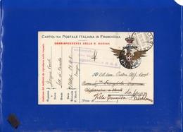 ##(DAN205)1918-Franchigia Della Marina Da Flottiglia M.A.S Venezia,bolloVerificato Per Censura Dal Comandante Flottiglia - 1900-44 Vittorio Emanuele III