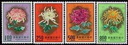 Taiwan - 1974 - Flowers - Chrisantemum - Mint Stamp Set - 1945-... Republik China
