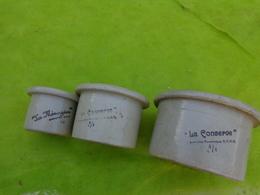 Lot De Pot En Gres  La Menagere 1/4  Hauteur 6.5cm - 1/2 Hauteur 8 Cm - 4/4 Hauteur 9cm - Autres Collections
