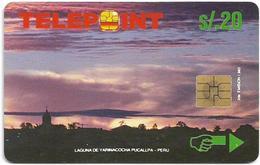 Peru - Telepoint - Yarinacocha Lake Puzzle Piece 2/4, 10Sol, 21.000ex, Used - Perú