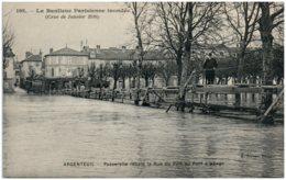 95 ARGENTEUIL - Crue De La Seine - Passerelle Reliant La Rue Du Port Au Pont à Péage - Argenteuil