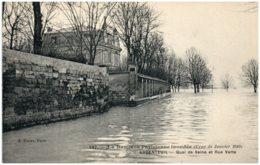 95 ARGENTEUIL - Crue De La Seine - Quai De Seine Et Rue Verte - Argenteuil