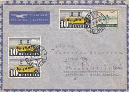 SUISSE ENVELOPE CIRCULEE DE GENEVE A BUENOS AIRES, ARGENTINE ANNEE 1946 PAR AVION -LILHU - Storia Postale
