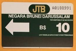 NEGARA BRUNEI DARUSSALAM B$10 CARTE MAGNÉTIQUE PHONECARD PAS TÉLÉCARTE - Brunei