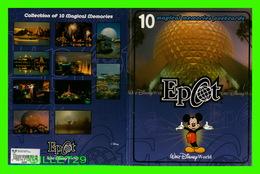 WALT DISNEY WORLD - ENVELOPE ONLY OF 10 POSTCARDS MAGICAL MEMORIES EPCOT - - Disneyworld