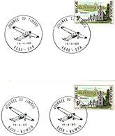 """Thema """"avion"""" - Journée Du Timbre 1980 : 2 Cachets Spéciaux De Prévente 19-4-1980 (Spa & Namur) - Postmark Collection"""