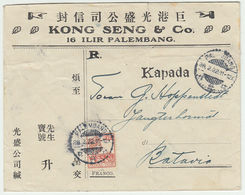 NEDERL. INDIE 1922 Brief PALEMBANG Nach BATAVIA - Indonesia