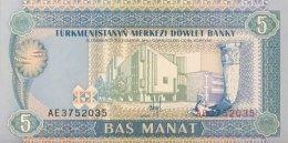 Turkmenistan 5 Manat, P-2 (1993) - UNC - Turkmenistan
