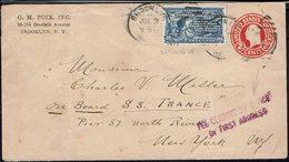 Etats-Unis - Enveloppe Entier Postal 2 C + Messager Express à Vélo N° 8 De Brooklyn Vers New York 3 Juillet 1923 - - Brieven En Documenten
