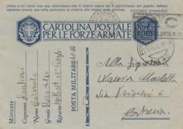 Italien Posta Militaire Censor Postkarte 1940-45 Tekst Vittorio Emanuelle - 1900-44 Vittorio Emanuele III