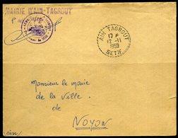 Algérie  Oblitération Recette Distribution  Ain Tagrout (Sétif)  1959 - Algérie (1924-1962)