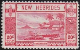 New Hebrides   .    SG  .  55    .     *      .   Mint-hinged      .   /   .   Ongebruikt - Grossbritannien (alte Kolonien Und Herrschaften)