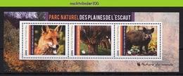 Nff244 FAUNA WILD ZWIJN VOS FLORA BOMEN WILG WILLOW TREES FOX WILD BOAR PIG WILDLIFE MAMMALS FUCHS QWBU 2012 PF/MNH - Gibier