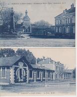 Lot De 2 CPA Parentis-en-Born - Les écoles / Monument Aux Morts - Eglise - Gendarmerie - Autres Communes