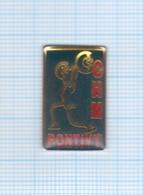 Pin's Ville De Pontivy CHM Haltérophilie – 56 Morbihan - Halterofilia