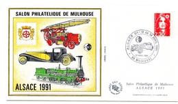 Bloc CNEP Salon De Mulhouse Alsace 1991 Sur Enveloppe Avec Cachet Commémoratif - CNEP