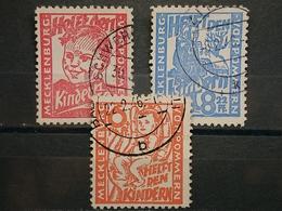 Sowjetische Zone Mecklenburg-Vorpommern Mi-Nr.26-28 Gestempelt - Zona Soviética