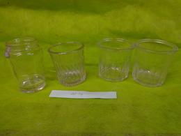 Lot  Bocaux Anciens -confiture Ou Autre  -2 500g E -  1 375g - 1 Avec Inscription 4vb S - Dishware, Glassware, & Cutlery