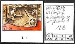 [843068]TB//**/Mnh-Belgique 1970 - N° 1534, ND/Imperf, Moissonneuse N° Planche 1, Musée - 1961-1970