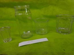 Lot  Bocaux Anciens -confiture Ou Autre  -1 750g  -  1 500g - 1  ? N°1 3 -1 Petit Sans Inscription - Platos, Vasos Y Cubiertos