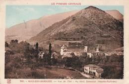 64 Mauleon Barousse Vue De L' Est Au Fond Esbareich Cpa Cachet Mauleon Barousse 1949 - Mauleon Licharre