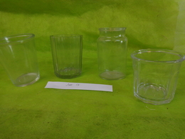 Lot  Bocaux Anciens -confiture Ou Autre  -1  350g  -  1 0.4 _1  Portieux - 1 N°2 Evase - Dishware, Glassware, & Cutlery