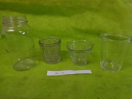 Lot  Bocaux Anciens -confiture Ou Autre  -1  N°2 Evase-1  Inscription D - 1  ? -1 Ref 41832 M 15 - Dishware, Glassware, & Cutlery