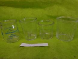 Lot  Bocaux Anciens -confiture Ou Autre  -1  N°2 Evase-1  750g -1 375g-1 Creme Fraiche Yoplait - Dishware, Glassware, & Cutlery