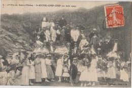 44 St Saint Michel Chef Chef 1ère Fête Du Redois L'océan En 1909 Groupe De Personnes Peu Courante  -s19 - Saint-Michel-Chef-Chef