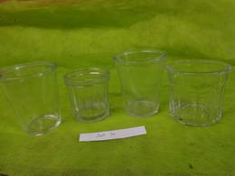 Lot  Bocaux Anciens -confiture Ou Autre  -2  N°2 Evase-1  500g -1  N°4 - Dishware, Glassware, & Cutlery