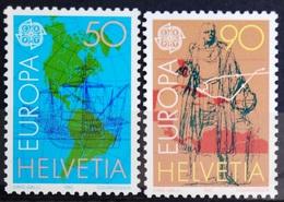 EUROPA        ANNEE 1992        SUISSE        N° 1393/1394           NEUF** - 1992