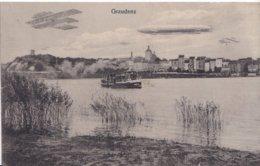 Postkarte,Luftschiff,Flugzeug,Graudenz - Autres