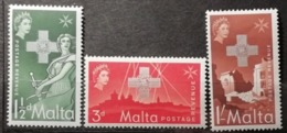 Malte 1957 / Yvert N°256-258 / ** - Malta