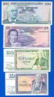 Icelande  4  Billets - IJsland
