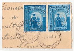 COVER FRAGMENT / FRAGMENT De LETTRE : ROMANIA - TRANSNISTRIA - CANCELLATION : DUBASARI / RECOMANDATE - 1943 (ae676) - Lettres 2ème Guerre Mondiale