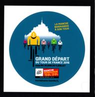 Autocollant / Sticker/ Grand Départ Du Tour De France 2016 Manche Normandie, Mont-Saint-Michel - Autocollants