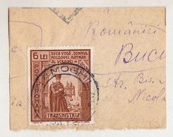 COVER FRAGMENT / FRAGMENT De LETTRE : ROMANIA - TRANSNISTRIA - CANCELLATION : MOGHILAU / RECOMANDATE - 1943 (ae683) - Lettres 2ème Guerre Mondiale