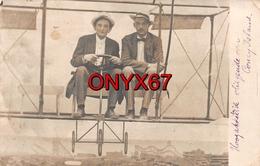 Carte Photo Montage AEROPLANE AVION Fictif Vol Au Dessus De Luna Park Coney Island à Brooklyn-New-York United States USA - Fotografía