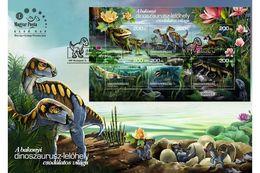 HUNGARY - 2020. FDC Souvenir Sheet - Bakony Dinosaur Site / Ancient Reptiles MNH!!! - FDC