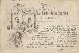 SOUVENIR DE LA VISITE DU CZAR ET DE LA CZARINE A PARIS 1896 - Familles Royales