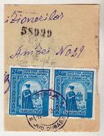 COVER FRAGMENT / FRAGMENT De LETTRE : ROMANIA - TRANSNISTRIA - CANCELLATION : CIORNA / JUD. DUBASARI - 1943 (ae694) - Lettres 2ème Guerre Mondiale