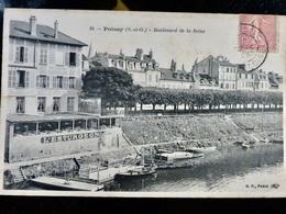CARTE POSTALE _ CPA VINTAGE : POISSY _ Restaurant * L'ESTURGEON * Bd De La Seine     // CPA.BtADID - Poissy