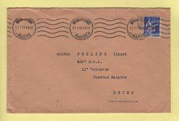 Mourmelon Le Grand - Marne - 17-1-1939 - Timbre FM Type Paix - Guerra De 1939-45