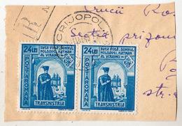 COVER FRAGMENT / FRAGMENT De LETTRE : ROMANIA - TRANSNISTRIA - CANCELLATION : CRIJOPOL / JUD. JUGASTRU - 1943 (ae706) - Lettres 2ème Guerre Mondiale
