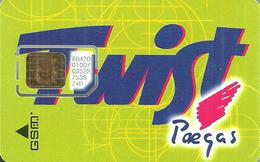 PAEGAS * MOBILE * GSM * SIM CARD * TWIST * Paegas 1 * Czech Republic - Tchéquie
