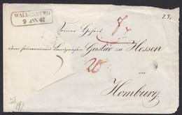 SACHSEN 1847 Waldenburg-Homburg Umschlag-Vorderseite Taxe  (15968 - Francobolli
