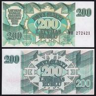 Lettland - Latvia 200 Rubel Banknoten 1992 Pick 41 UNC (1)   (16122 - Lettland