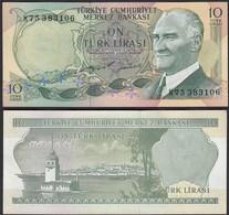 Türkei - Turkey 10 Lira Banknote 1970 (1975) Pick 186 UNC ATATÜRK   (17892 - Turkey