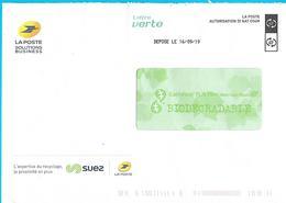 Enveloppe De Service La Poste Solutions Business Autorisation Di Nat C04M Suez Recyclage - Documenten Van De Post
